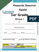 1er Grado - Bloque 1 - Español