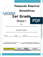 1er Grado - Bloque 1 - Matemáticas