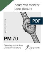 Beurer PM70 Manual
