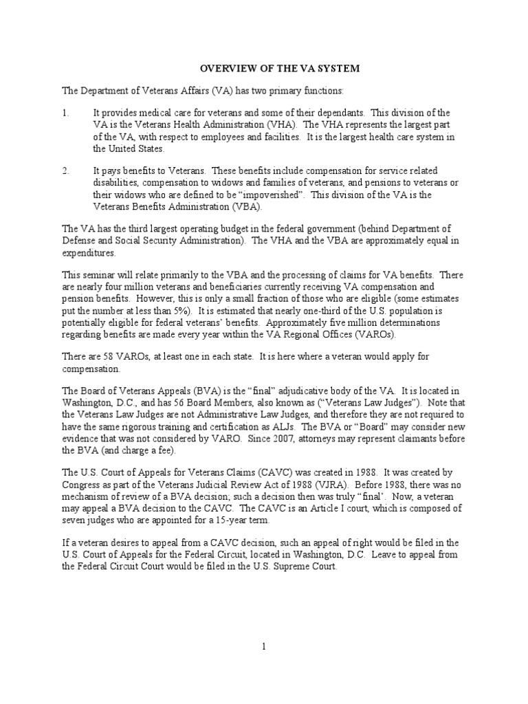 veterans law outline veteran 1491203901 veterans law outline va appeal letter va appeal letter