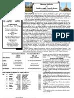 St. Joseph's August 12, 2012 Bulletin