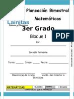Planeación Matemáticas tercer bloque cuarto de primaria