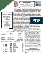 St. Michael's August 26, 2012 Bulletin