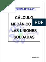 CÁLCULO MECÁNICO DE LAS UNIONES SOLDADAS