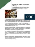 Consumo per cápita de pan en Perú