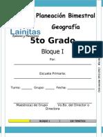 5to Grado - Bloque 1 - Geografía