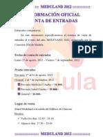 Información Oficial Entradas MEDULAND
