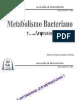 Tema 4 Metabolismo Bacteriano