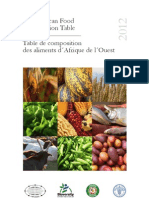 West African Food Composition Tables