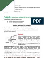 Unidad 1 - Proceso de fabricación sin aranque de virutas