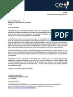 Carta al Ministerio de Educación del Ecuador