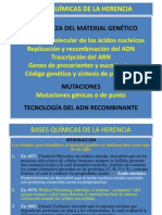 Bases Quimicas de La Herencia 2011