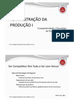 AP - Aula 2 - Competitividade e Estrategia de Produção