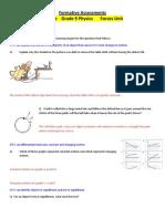 9 - (Physics) Unit 1 Formative Assessments