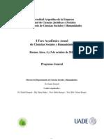 I Foro Anual Ciencias Sociales y Humanidades - PROGRAMA (1)