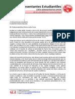 Carta a Estudiantes Facultad de Ciencias Naturales - Permanencias Docentes