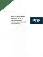 Sankaty High Yield Partners III Lp Financial (1)Dec08 &09