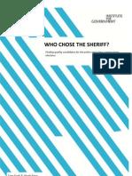 219. Who Chose the Sheriff