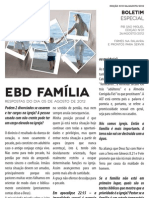 Boletim Especial 26/08/2012 EBD Família