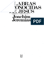 566 - Joachim Jeremias - Palabras Desconocidas de Jesus - x Jguzman