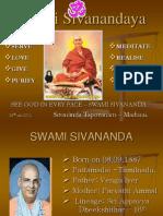 Guru Bhagavan Swami Sivanandaji Maharaj