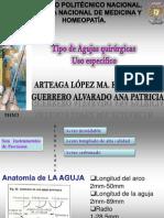 clasificacion agujas quirurgicas