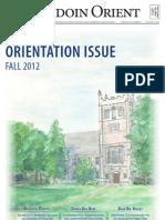 The Bowdoin Orient - Vol. 142, No. 0 - August 27, 2012