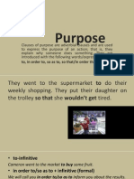 (I) Clauses of Purpose
