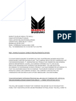 Maruti Suzuki Recruitment Offer