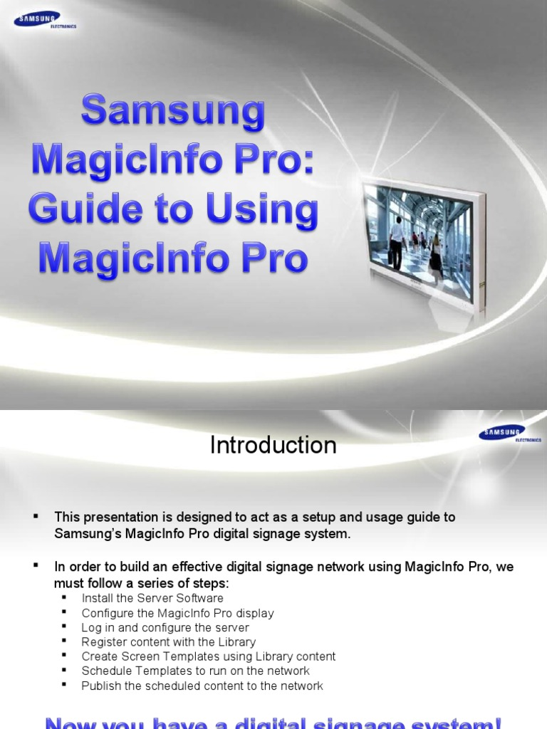 MagicInfo Pro - Guide to Using MagicInfo Pro | Icon (Computing