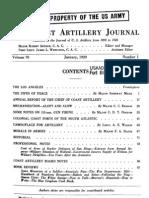 Coast Artillery Journal - Jan 1929