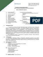 Silabus de Matematica Superior Marketing y Direcccion de Empresas 2012 II(Enviar)