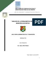 Abel Ortiz Prado Problematica Municipal y Propuesta Mayo 2011