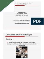 aula PARASITOLOGIA- 6° período -24-08-12