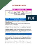 IAS Mains Examination 2012
