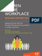 Women in Workplace - CA Public Practice - 2012