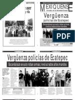 Versión impresa del periódico El mexiquense 27 agosto 2012