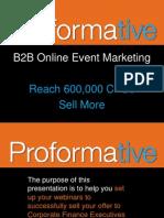 Webinar - B2B Online Event Marketing - Reach CFOs, Sell More