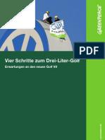 Greenpeace-Report Vier Schritte Zum Drei-Liter-Golf