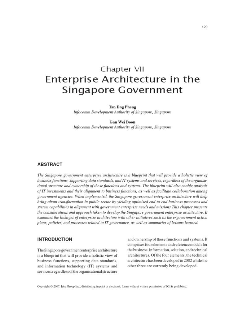 Enterprise architecture in the singapore government e government enterprise architecture in the singapore government e government enterprise architecture malvernweather Choice Image