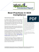 Best Practice SOX Complince