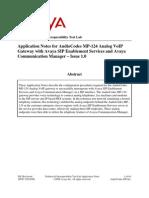 Avaya CM SES - MP124 Configuration Guide