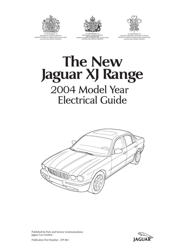 2004 Jaguar Xj Series Vehicle Wiring Book