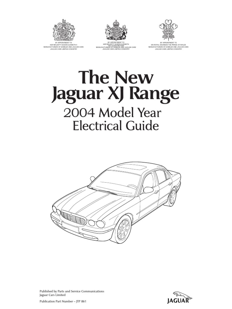 2004 jaguar xj series vehicle wiring book
