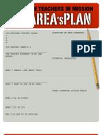 DO IT NOW | Area Plan Worksheet