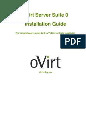 oVirt Server Suite Installation Guide | Postgre Sql | Databases
