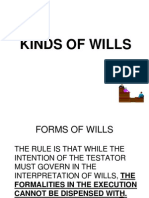 Forms of Wills