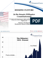 Is the Senate Filibuster Constitutional?