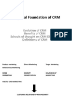 CRM Conceptual Foundation