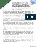06 Exercicio de Administrativo - Adm Direta e Indireta